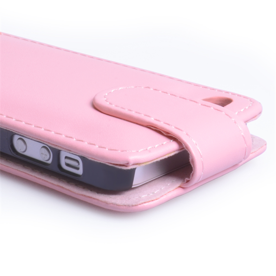Yousave Accessories iPhone 5 Baby Pink PU Leather Flip Case