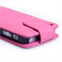 YouSave Accessories iPhone SE  Leather Effect Flip Case - Hot Pink
