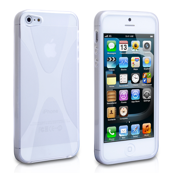 Yousave Accessories iPhone 5 X-Line Clear Gel Case