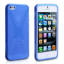 Yousave Accessories iPhone 5 Blue X-Line Gel Case