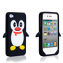 Yousave Accessories Apple iPhone 4 Penguin Black Case