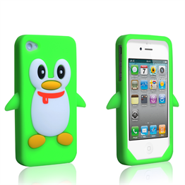 iPhone 4 Green Penguin Case