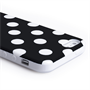 Yousave Accessories Apple iPhone 5 Polka Dot Black Case