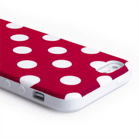 YouSave Accessories iPhone SE Polka Dot Case - Red