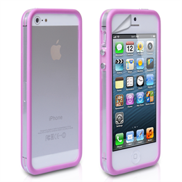 Yousave Accessories Apple iPhone 5 Bumper Purple Case