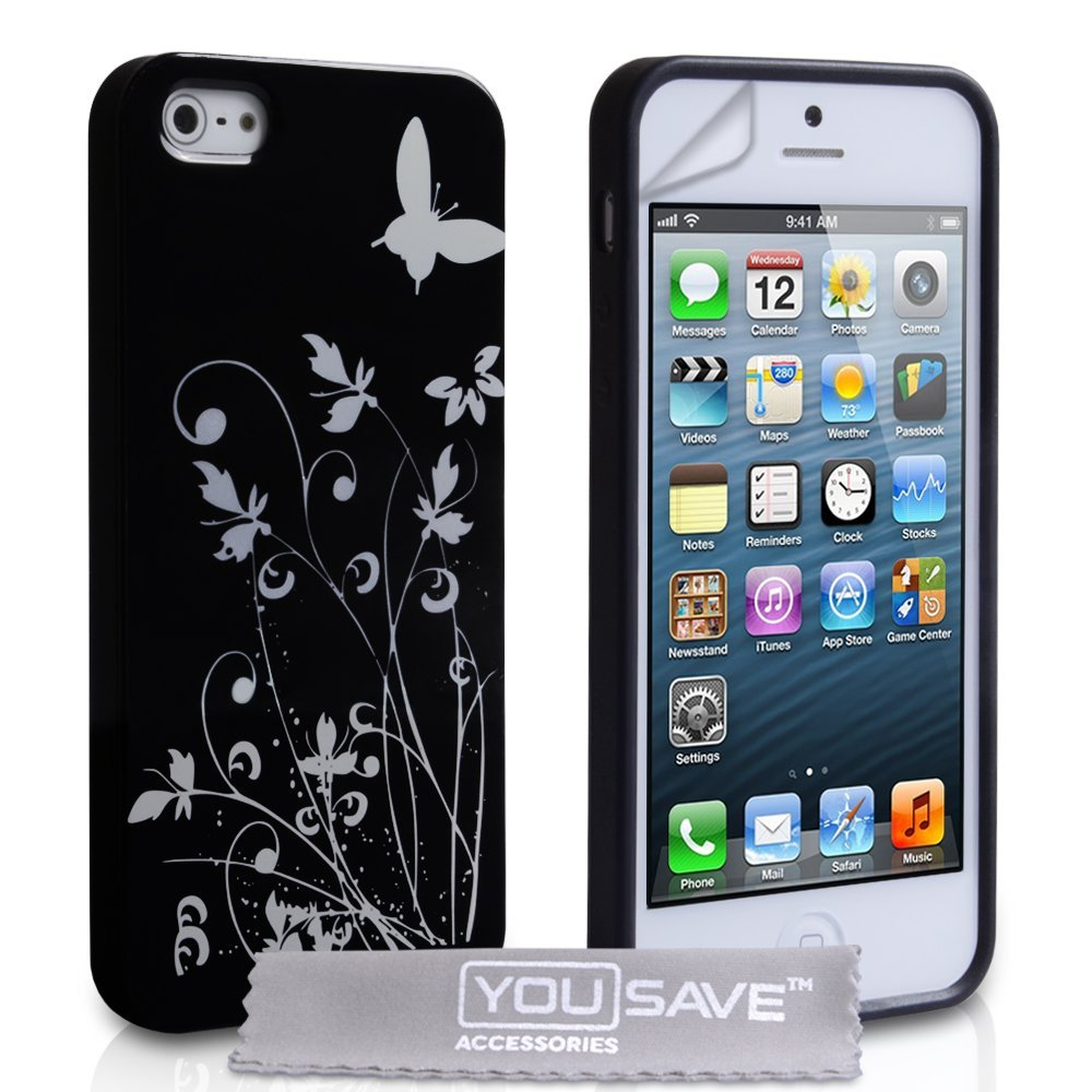 yousave accessories iphone 5 and 5s se imd hard case black. Black Bedroom Furniture Sets. Home Design Ideas