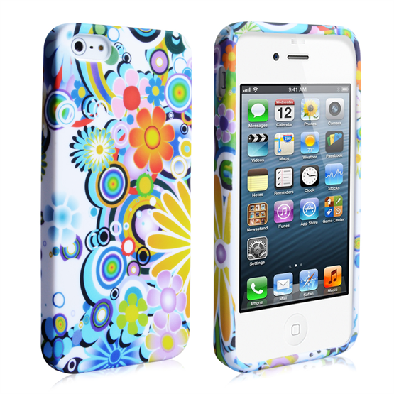 YouSave Accessories iPhone SE Rainbow Floral Gel Case