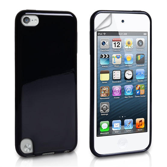 Yousave Accessories iPod Touch 5 Black Glossy Silicone Case