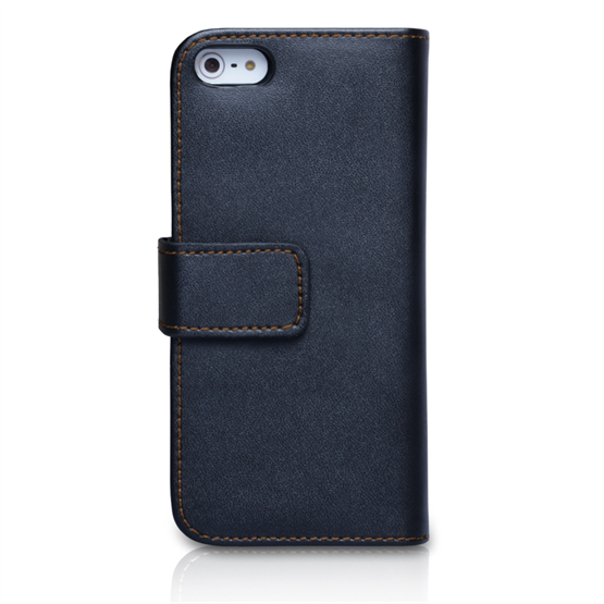 Yousave Accessories iPhone 5/5S Leather-Effect Wallet Case - Black