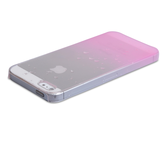 YouSave Accessories iPhone SE Raindrop Hard Case - Baby Pink-Clear