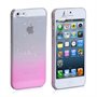 Yousave Accessories iPhone 5/5S Raindrop Hard Case - Baby Pink-Clear
