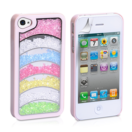 Yousave Accessories Apple iPhone 4 Rainbow Baby Pink Case