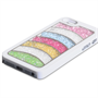 Yousave Accessories Apple iPhone 5 Rainbow White Case