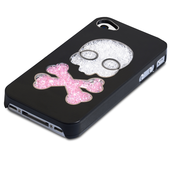 Yousave Accessories Apple iPhone 4 Skull Black Case