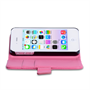 Yousave Accessories iPhone 4 / 4S Leather-Effect Wallet Case - Hot Pink