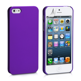 YouSave Accessories iPhone SE Purple Hard Hybrid Case
