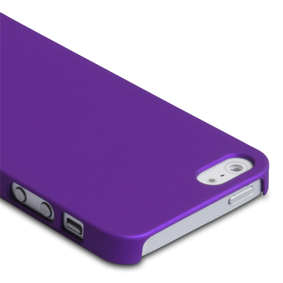 Yousave Accessories iPhone 5/5S Hard Hybrid Case - Purple