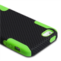 Yousave Accessories iPhone 5/5S Tough Mesh Combo Silicone Case - Green-Black
