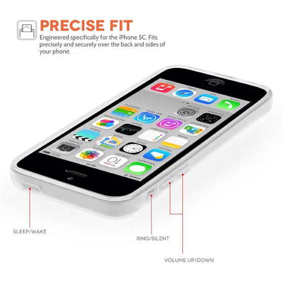 Yousave Accessories iPhone 5C Silicone Gel Case - Clear