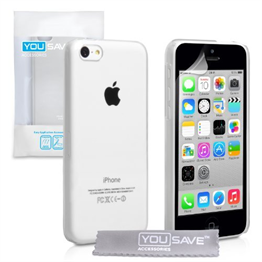Yousave Accessories iPhone 5C Hard Case - Crystal Clear