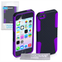 Yousave Accessories Apple iPhone 5S Mesh Combo Purple Case