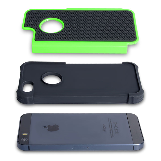YouSave Accessories iPhone SE Grip Combo Case - Green