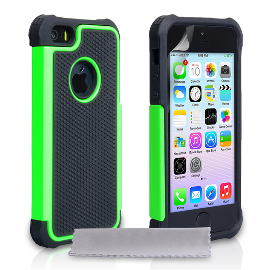 Yousave Accessories Apple iPhone 5S Grip Combo - Green