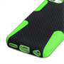 Yousave Accessories iPhone 5C Tough Mesh Combo Silicone Case - Green-Black