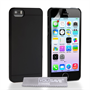 Yousave Accessories Apple iPhone 5S Pc Rubber Back Black Case