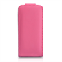 Yousave Accessories iPhone 5C Leather-Effect Flip Case - Hot Pink