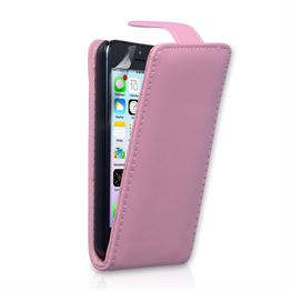 Yousave Accessories Apple iPhone 5C PU Flip Baby Pink Case