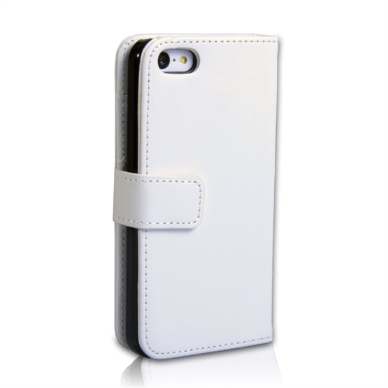 Yousave Accessories iPhone 5C Leather-Effect Wallet Case - White