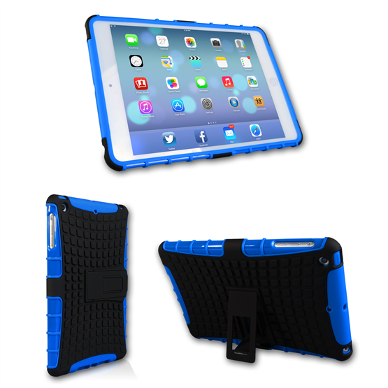 Yousave Accessories iPad Mini 2 Blue Kickstand Combo Cases