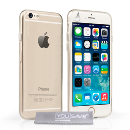 Yousave Accessories Apple iPhone 6 and 6s 0.6Mm Gel- Clear