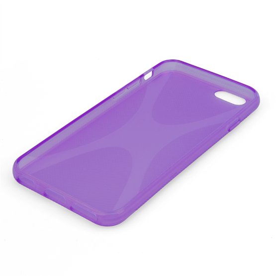 Yousave Accessories iPhone 6 and 6s Silicone Gel X-Line Case - Purple