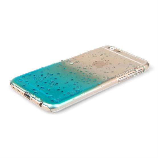 Yousave Accessories iPhone 6 and 6s Raindrop Hard Case - Blue-Clear