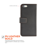 Yousave Accessories iPhone 6 and 6s Leather-Effect Wallet Case - Black
