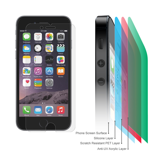 Yousave Accessories Apple iPhone 6 and 6s -  Screen Protector ( 5 Pack ) Clear