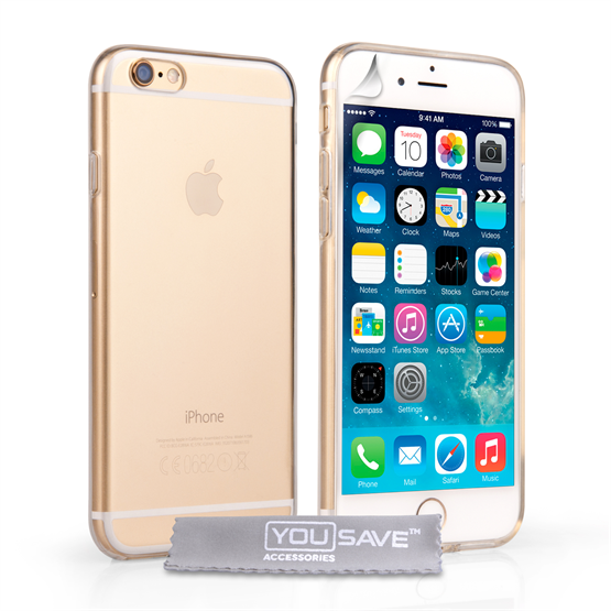 Yousave Accessories iPhone 6 and 6s Silicone Gel Case - Clear