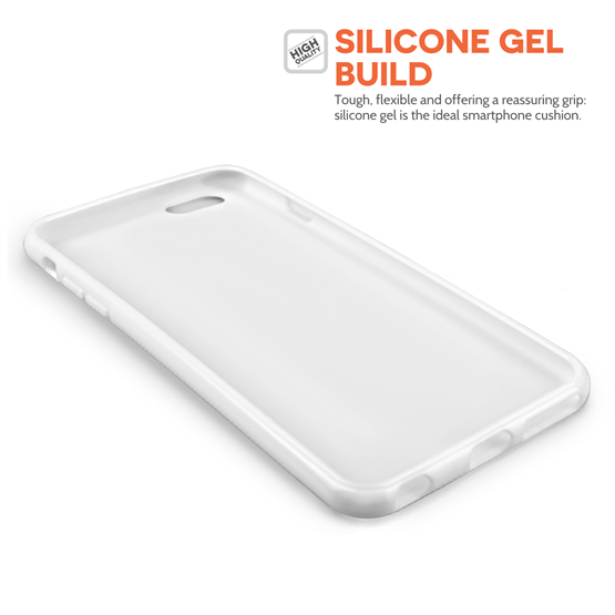 Yousave Accessories iPhone 6 and 6s Silicone Gel X-Line Case - White