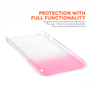 Yousave Accessories iPhone 6 Plus and 6s Plus Raindrop Hard Case - Baby Pink-Clear