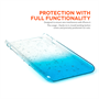 Yousave Accessories iPhone 6 Plus and 6s Plus Raindrop Hard Case - Blue-Clear