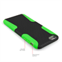 Yousave Accessories iPhone 6 Plus and 6s Plus Tough Mesh Combo Silicone Case - Green-Black