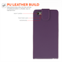 Yousave Accessories iPhone 6 Plus and 6s Plus Leather-Effect Flip Case - Purple