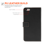 Yousave Accessories iPhone 6 Plus and 6s Plus Leather-Effect Wallet Case - Black