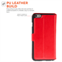 Yousave Accessories iPhone 6 Plus and 6s Plus Leather-Effect Stand Wallet Case - Red