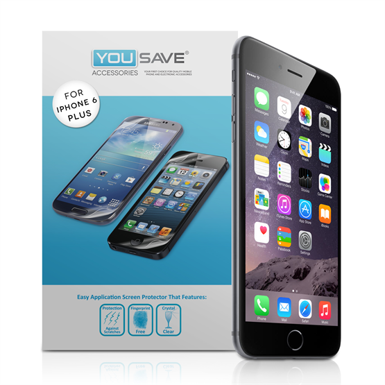 Yousave Accessories iPhone 6 Plus and 6s Plus Screen Protectors - 5 Pack