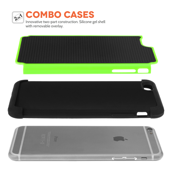 Yousave Accessories iPhone 6 Plus and 6s Plus Green Grip Combo