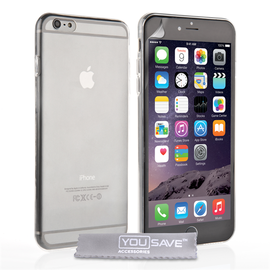 Yousave Accessories Apple iPhone 6 Plus and 6s Plus 0.6Mm Gel- Clear