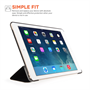 Yousave Accessories Apple iPad Air 2 Smart Cover Black Case